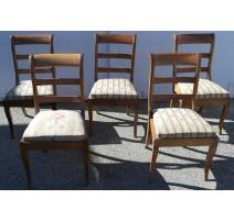 Série de 5 chaises Louis Philippe
