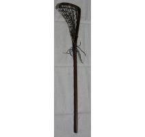 Crosse de Lacrosse en bois et filet en cuir