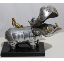 Sculpture Hippopotame signée Frank MEISLER