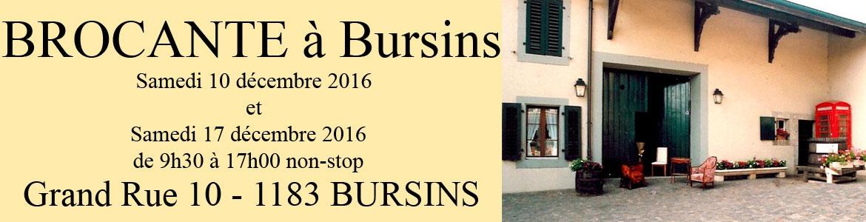 BROCANTE à Bursins
