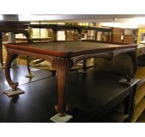 Table basse en bois sculpté et laqué