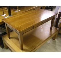 Table basse modèle Alsace, en merisier