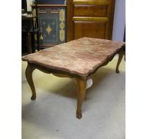 Table basse, style Louis XV, en chêne