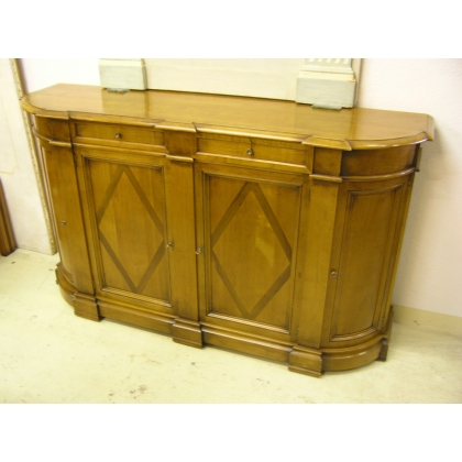 Credenza Directoire style cherry wood, 4