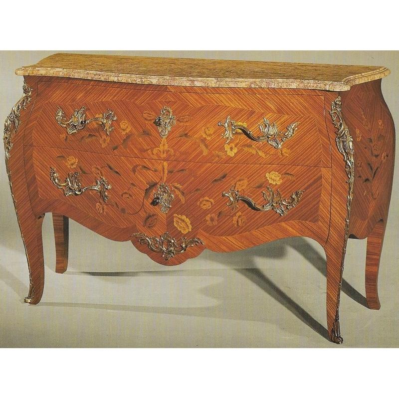 Commode style louis xv ventrue en bois de rose moinat sa - Commode louis xv bois de rose ...