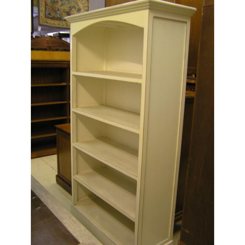 biblioth que en bois laqu teinte cr me sur moinat sa antiquit s d coration. Black Bedroom Furniture Sets. Home Design Ideas