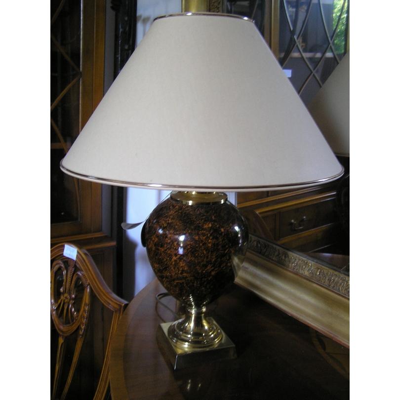 Lampe laiton, modèle Racene Thuga, avec