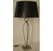 Lamp in iron with shade in faux