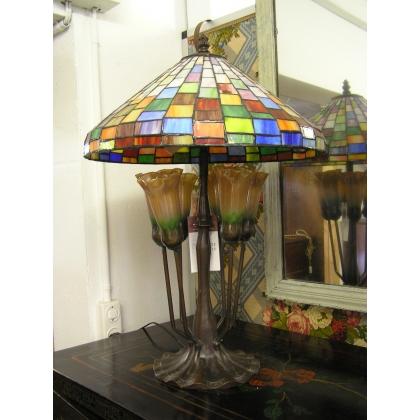 """Lampe """"Pensées"""" en mosaïque à 6 lumières"""