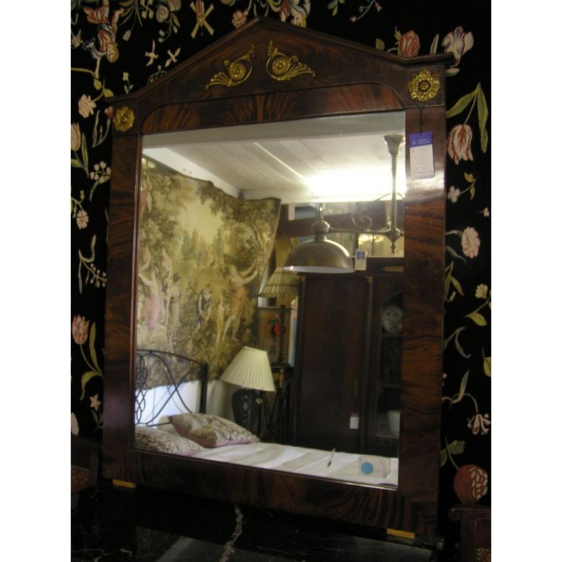 Miroir style empire en acajou sur moinat sa antiquit s for Miroir acajou