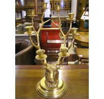 Chandelier, model of deer Head, golden to