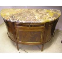 Buffet Louis XVI demi-lune mahogany