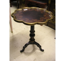 """Pedestal table """"flower"""" lacquered wood"""