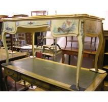 Bureau style Louis XV laqué motifs