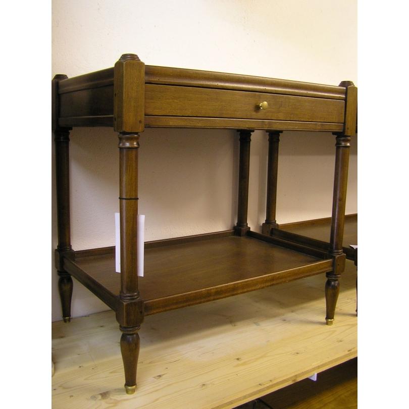 Table bout de canapé en bois ciré