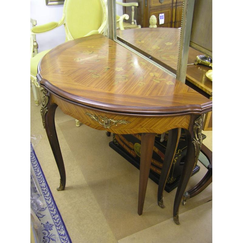 table demi lune en bois de rose moinat sa antiquit s. Black Bedroom Furniture Sets. Home Design Ideas