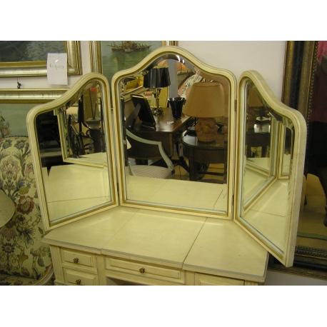Miroir triptyque en bois laqué sur Moinat SA - Antiquités décoration