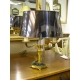 Lamp Empire gilt bronze and patinated