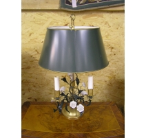 Lamp hot water bottle in gilded iron and