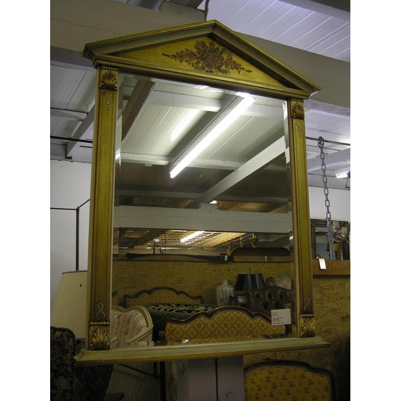 Miroir style directoire laqu fleurs sur moinat sa for Miroir style