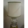 Lampe en porcelaine peinte avec