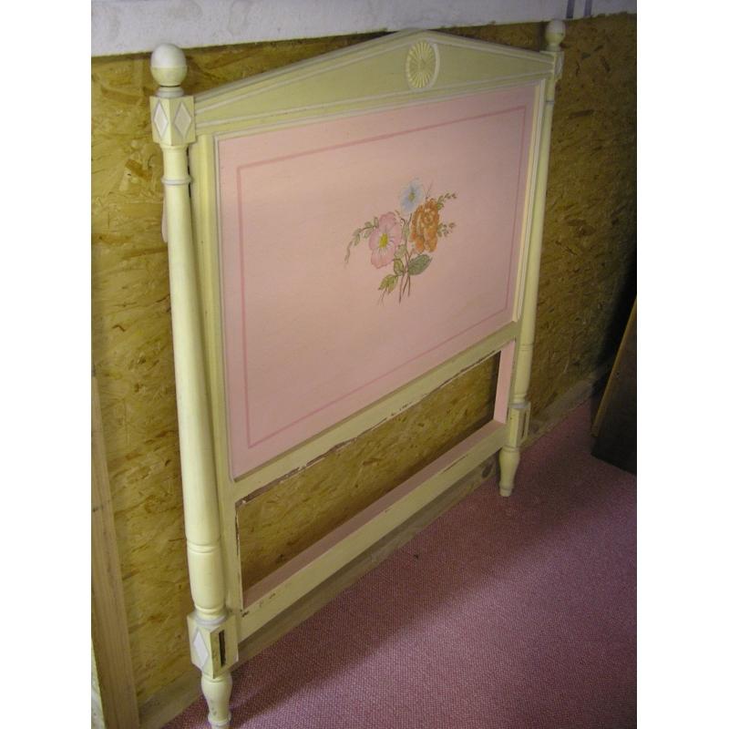 Lit Directoire en bois de hêtre laqué - Moinat SA - Antiquités décoration
