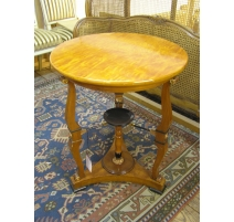 Pedestal table in the Directoire style cherry wood
