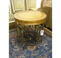 Round pedestal table Empire style, legs