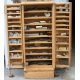 Cabinet watchmaker fir, 2 doors,