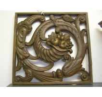 Panel Art Deco carved wooden