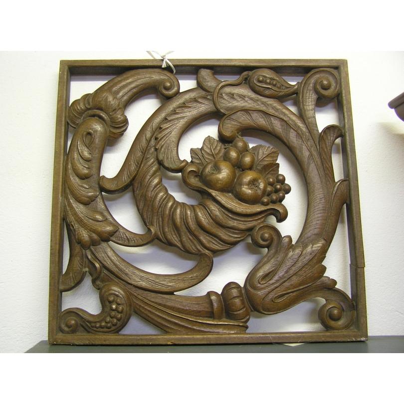 Panneau Art Déco en bois sculpté