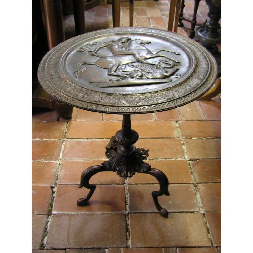 Guéridon Néo-classique anglais en métal