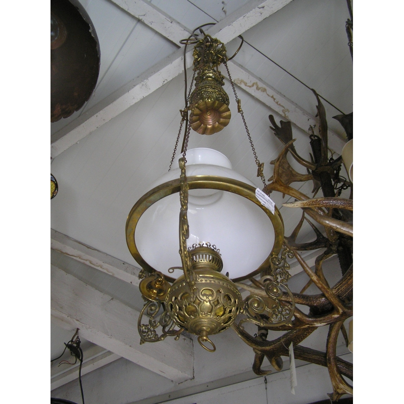 suspension avec abat jour beige sur moinat sa antiquit s d coration. Black Bedroom Furniture Sets. Home Design Ideas