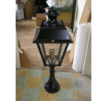 Lantern on pillar, black with base