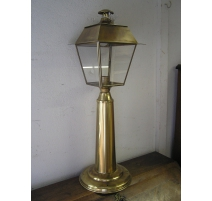 Lantern bollard on the pier in brass