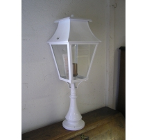 Lantern bollard on pillar white,