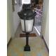 Lantern bollard on pillar, black, glass