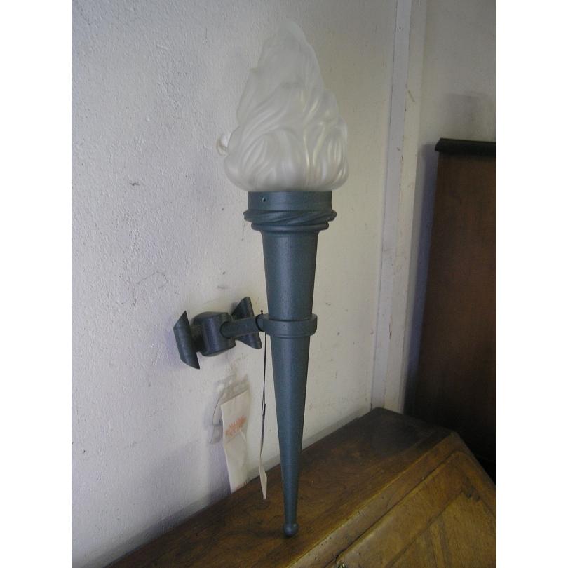 Applique-torche verte