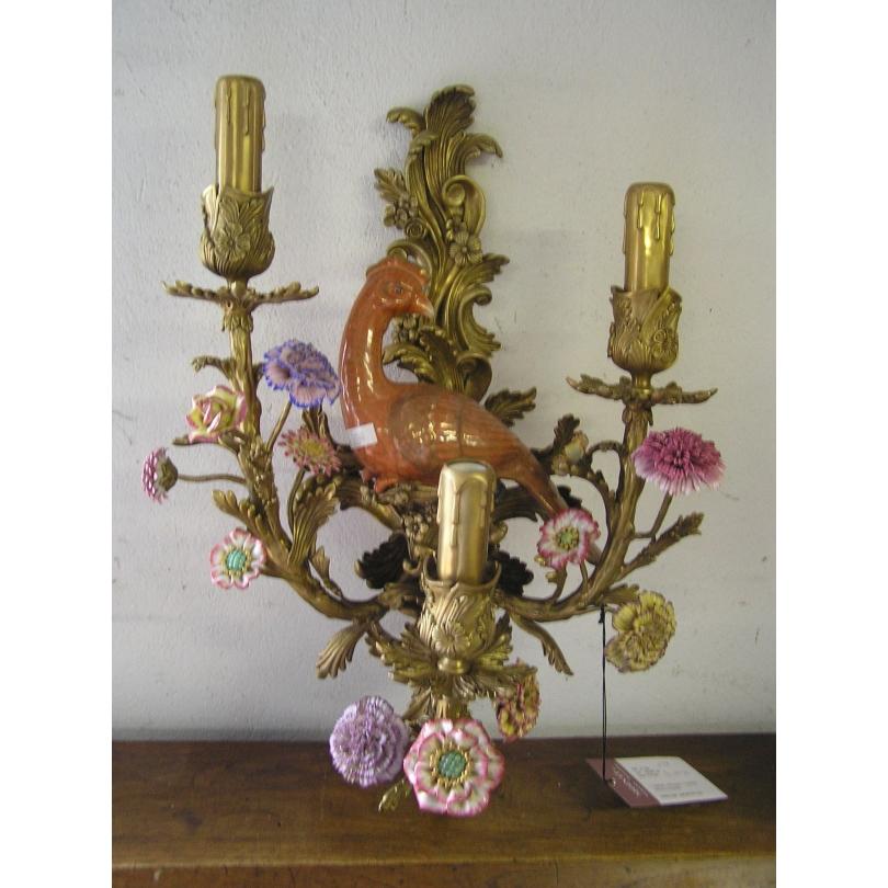 applique perroquet droite en bronze sur moinat sa antiquit s d coration. Black Bedroom Furniture Sets. Home Design Ideas