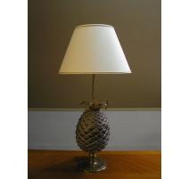 Lampe, modèle Ananas, en bronze doré et