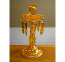 Candlestick, 1 candle holder, orange glass
