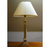 Lampe cannelée style Empire avec