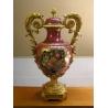 Porcelain Vase red with bronze