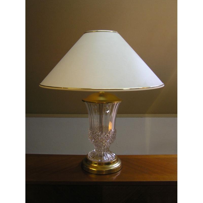 lampe pied vase en cristal et moinat sa antiquit s. Black Bedroom Furniture Sets. Home Design Ideas