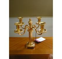 Pair of bronze girandole candelabras Louis XVI style