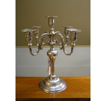 Chandelier Regency style pewter polished