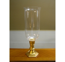 Candle holder golden brass