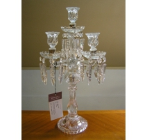 Chandelier, 4 candle holders, glass with