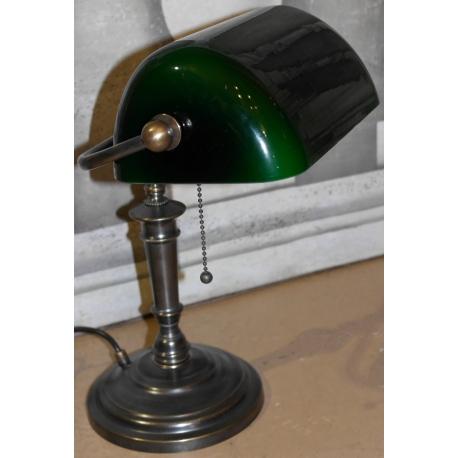 lampe de banquier en laiton patin avec sur moinat sa antiquit s d coration. Black Bedroom Furniture Sets. Home Design Ideas