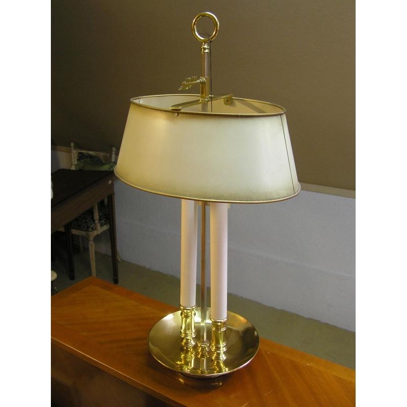 lampe bouillotte avec abat jour ivoire sur moinat sa antiquit s d coration. Black Bedroom Furniture Sets. Home Design Ideas